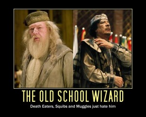 The Old School Wizard: Death Eaters, Squibs and Muggles just hate him!